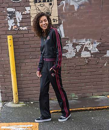Champion Black & Maroon Track Pants