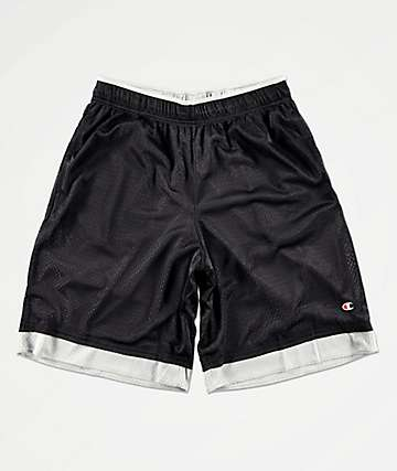 Champion Black & Silver Mesh Basketball Shorts