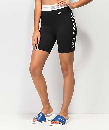 Champion Black & White Bike Shorts