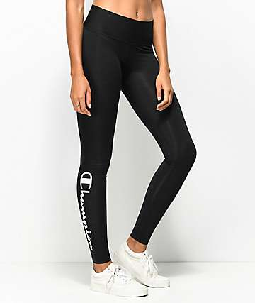 Champion Black & White Script Leggings