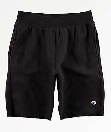 Champion Black Cut Off Sweat Shorts