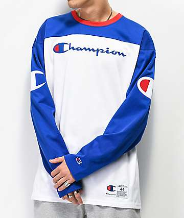 Champion Blue & White Football Jersey