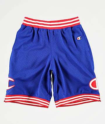 0340f72ec460 Champion Blue Mesh Basketball Shorts