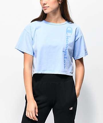 eadb789f51aa Champion Blue Pigment Dyed Crop T-Shirt