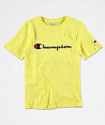 Champion Boy's Heritage Lime T-Shirt