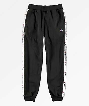 Champion Boys Black Taped Jogger Sweatpants