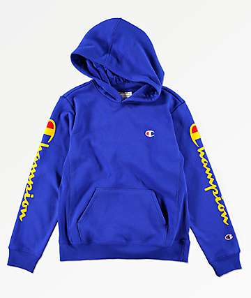 Champion Boys Flock Blue Hoodie