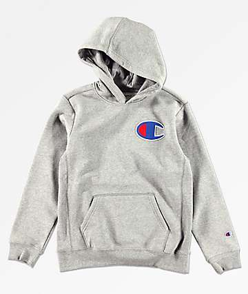 Champion Boys Heather Grey Hoodie