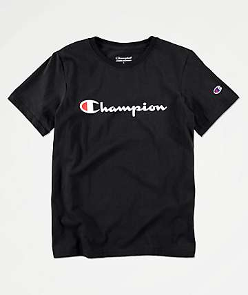 Champion Boys Heritage Black T-Shirt