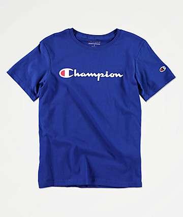 Champion Boys Heritage Blue T-Shirt