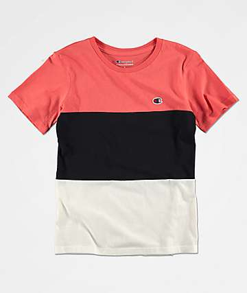 Champion Boys Heritage Colorblock Red, Black & White T-Shirt