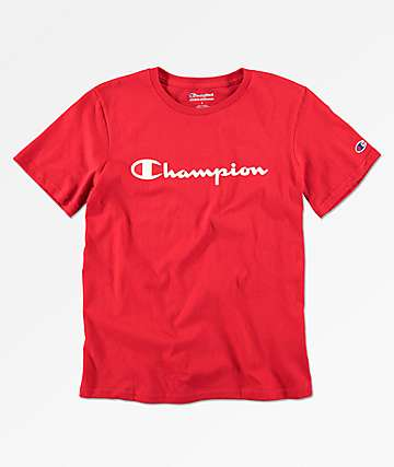 Champion Boys Heritage Scarlet Red T-Shirt