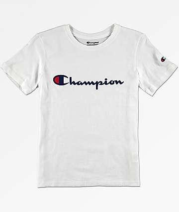Champion Boys Heritage White T-Shirt