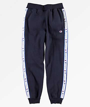 Champion Boys Navy Taped Jogger Sweatpants