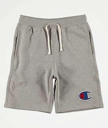 Champion Boys Oxford Heat Grey Sweat Shorts