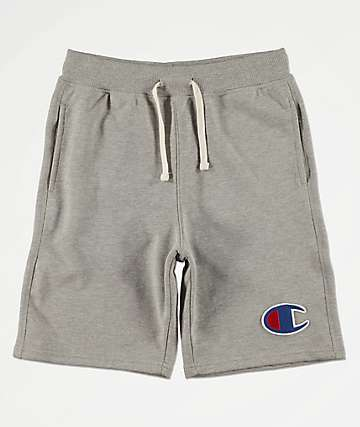 Champion Boys Oxford Heat Grey Sweat Shorts