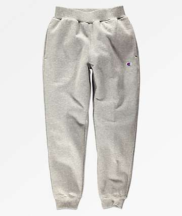 Champion Boys Small C Medium Grey Fleece Jogger Sweatpants