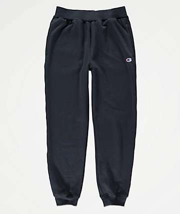 Champion Boys Small C Navy Jogger Sweatpants