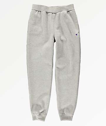 Champion Boys Small C Oxford Grey Jogger Sweatpants