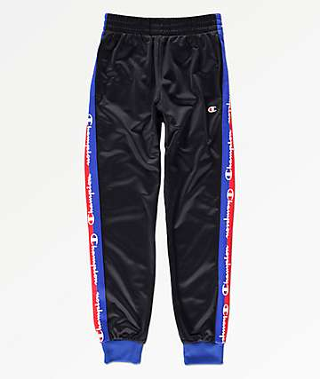 Champion Boys Taped Black Jogger Track Pants