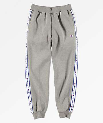 Champion Boys Taped Grey Jogger Sweatpants