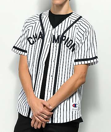 Champion Braided Pinstripe Baseball Jersey