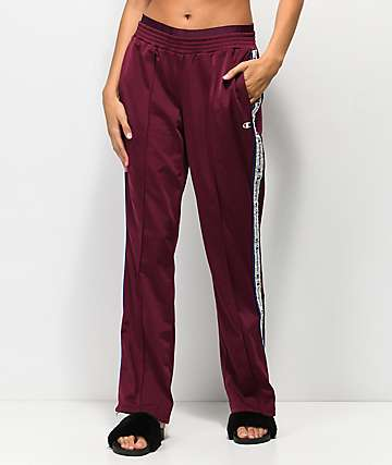 Champion Burgundy Track Pants