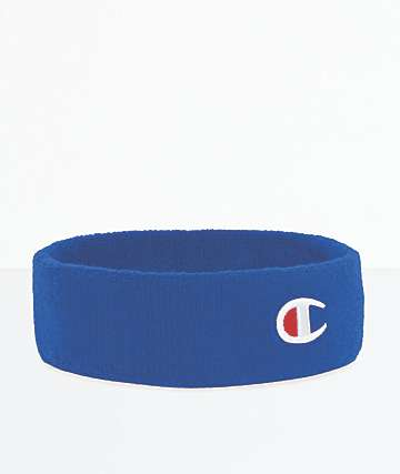 Champion C Logo Surf Blue Terry Headband