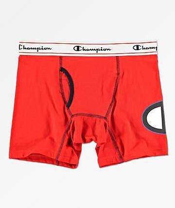 Champion C Logo calzoncillos boxer en rojo