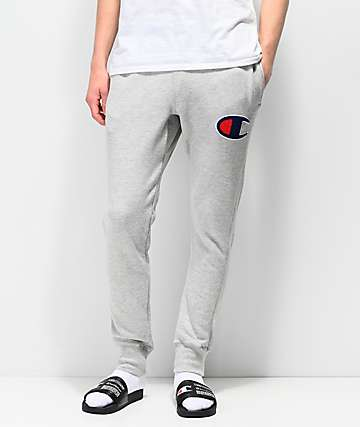 Champion Chainstitch Seal Applique Oxford Grey Sweatpants