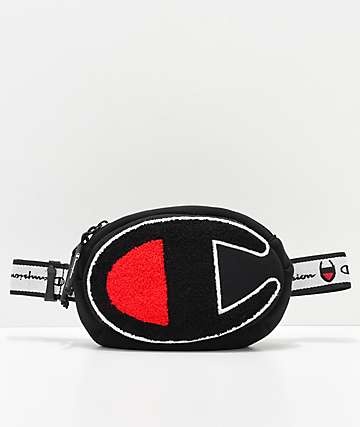 Champion Chenille Logo Black Waist Pack