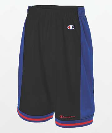 Champion City Black & Blue Basketball Shorts