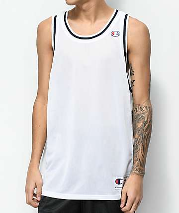 Champion City camiseta sin mangas de malla blanca