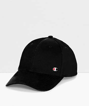 Champion Classic C Patch Twill Black Strapback Hat