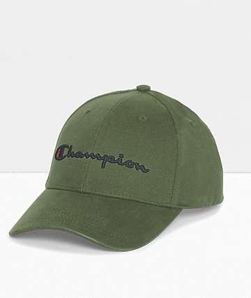 Champion Classic Cargo Olive Twill Strapback Hat