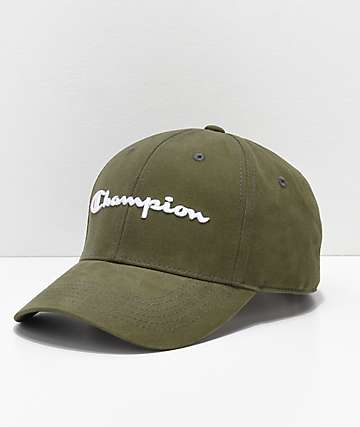 Champion Classic Hiker Green Twill Strapback Hat