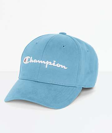 Champion Classic Twill Active Blue Strapback Hat