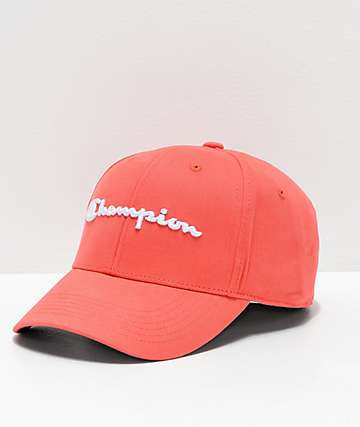 Champion Classic Twill Papaya Strapback Hat