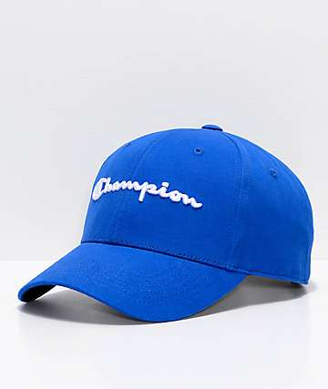 Champion Classic Twill Surf Blue Strapback Hat