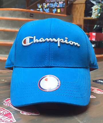 Champion Classic Twill Tidal Wave Blue Strapback Hat