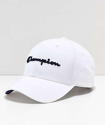 Champion Classic Twill White Strapback Hat bd44b352a1e
