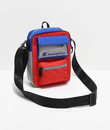 Champion Colorblock Blue, Red & Grey Cross Body Bag
