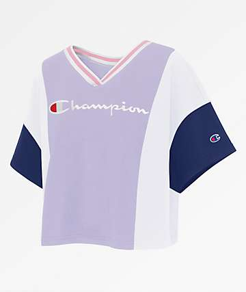 Champion Colorblock Violet T-Shirt