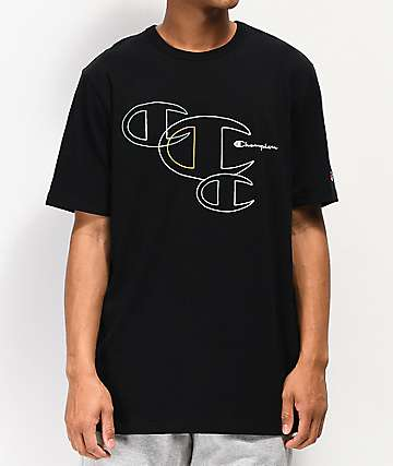 Champion Embroidered C Outline Black T-Shirt