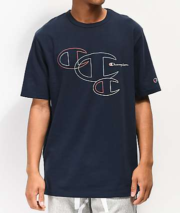 Champion Embroidered C Outline Navy T-Shirt
