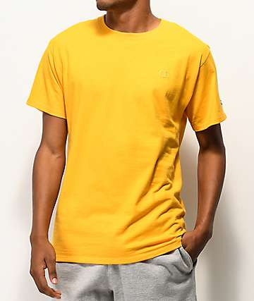 Champion Embroidered Tonal C Gold T-Shirt