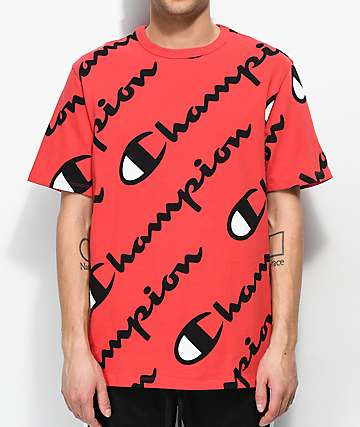 Champion Explode Script Red T-Shirt