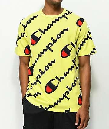 Champion Explode Script camiseta amarilla