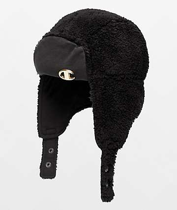 Champion Faux Fur Black Hunters Hat