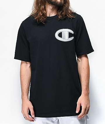Champion Floss Stich C Black T-Shirt
